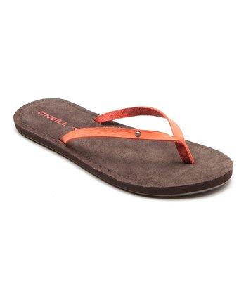 Coral Kona Flip-Flop
