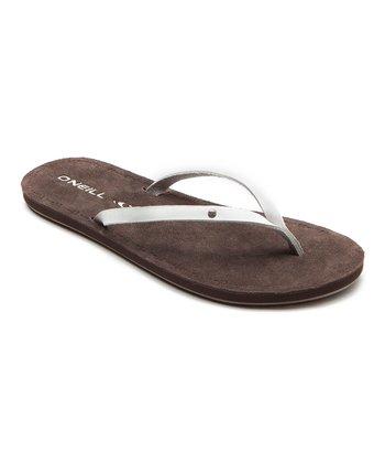 White Kona Flip-Flop