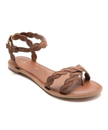 Cognac Island Sandal