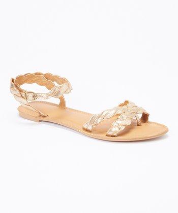 Tan & Silver Island Sandal