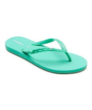 Green Shine Flip-Flop