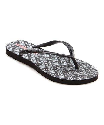 Black & White Bondi Flip-Flop