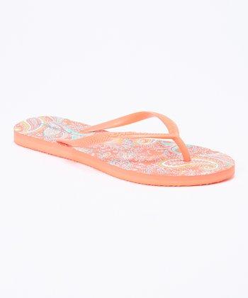 Coral Bondi Flip-Flop