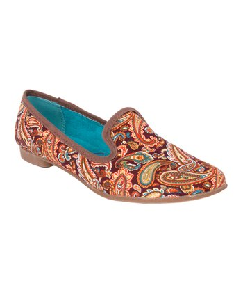 Brown Paisley Quick Loafer