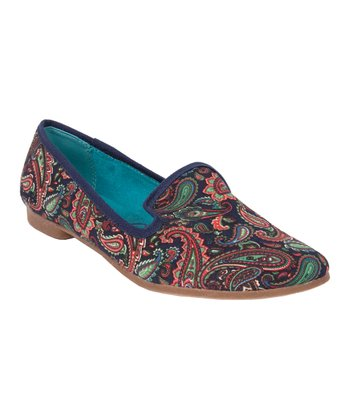 Navy Paisley Quick Loafer