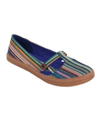 Blue Stripe Rebel Flat