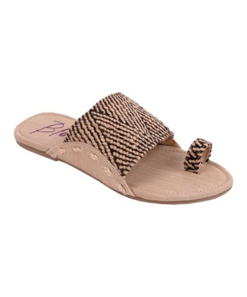 Black & Natural Jute Gazelle Sandal