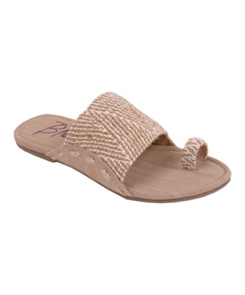 White & Natural Jute Gazelle Sandal