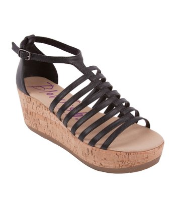 Black Greece Platform Sandal