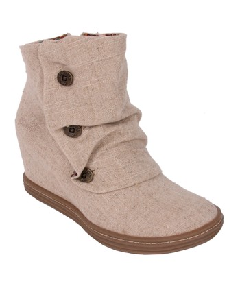 Natural Tabbit Wedge Boot
