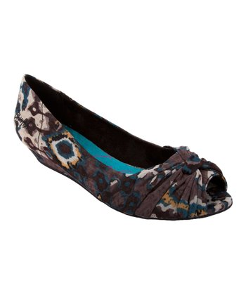 Black Tribal Dance Galore Wedge