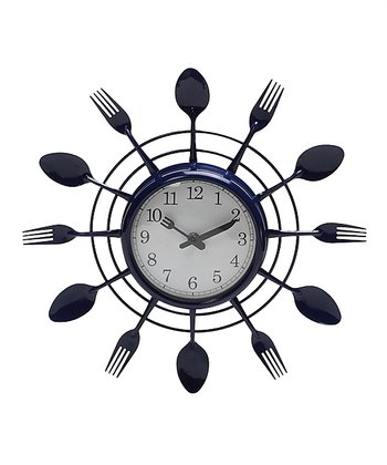 Kitschy Flatware Wall Clock