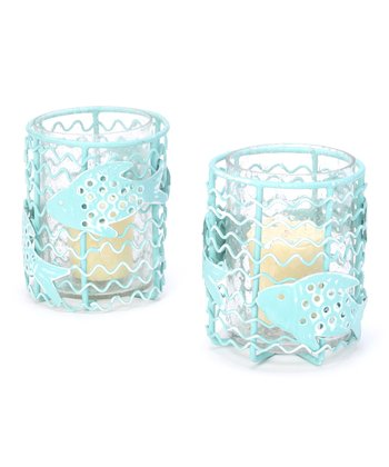 Split P Summer School Votive Candleholder - Set of Two