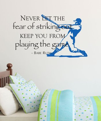 Black & Sapphire 'Striking Out' Wall Quotes Decal