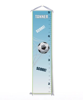 Soccer Goal Personalized Growth Chart