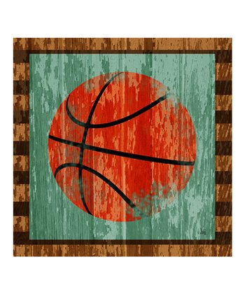Basketball Gallery-Wrapped Giclée Canvas