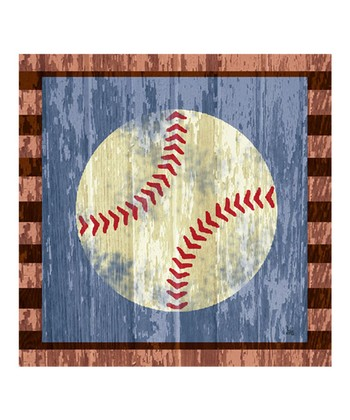 Baseball Gallery-Wrapped Giclée Canvas