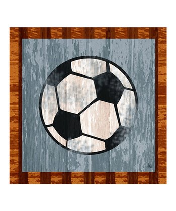 Soccer Gallery-Wrapped Giclée Canvas