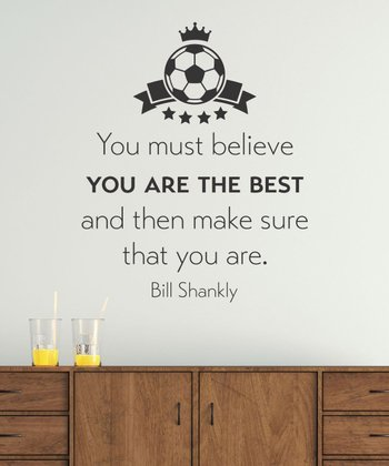 Black 'You Are The Best' Soccer Wall Quotes Decal