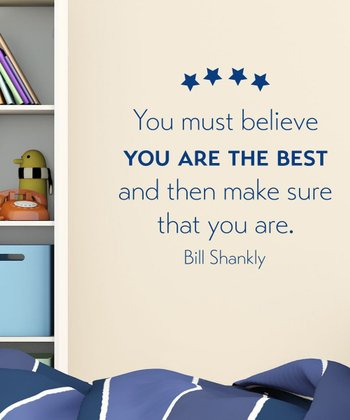 Navy 'You Are The Best' Wall Quotes Decal