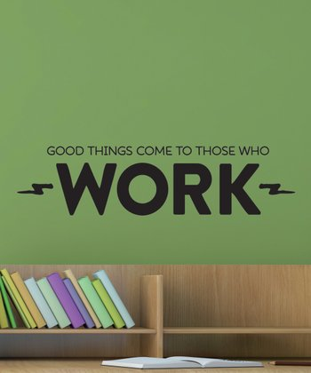 Black 'Work' Wall Quotes Decal