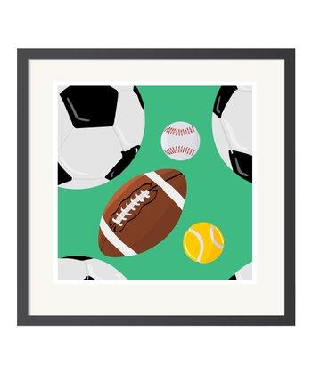 Green Sports Art Print