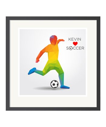 Soccer Personalized Art Print