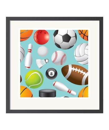Blue Sports Art Print