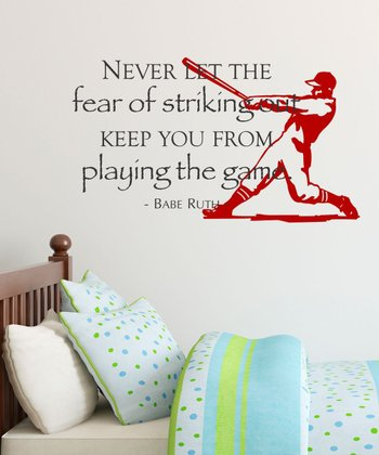 Black & Firetruck 'Striking Out' Wall Quotes Decal