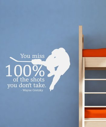 White 'Shots You Don't Take' Wall Quotes Decal
