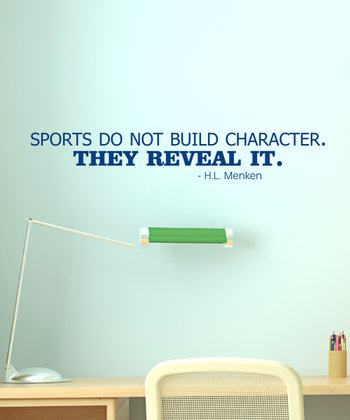 Navy 'Sports Reveal Character' Wall Quotes Decal