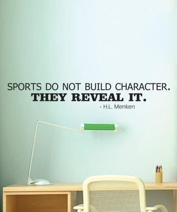 Black 'Sports Reveal Character' Wall Quotes Decal
