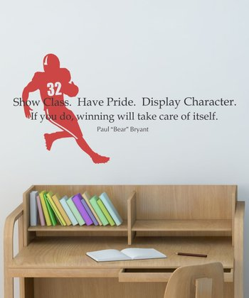 Black & Firetruck 'Show Class' Wall Quotes Decal
