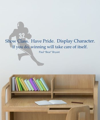 Navy & Pewter 'Show Class' Wall Quotes Decal