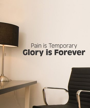Black 'Pain is Temporary' Wall Quotes Decal