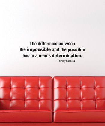 Black 'The Impossible' Wall Quotes Decal