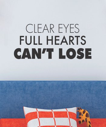 Black 'Full Hearts' Wall Quotes Decal