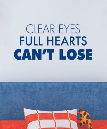 Navy 'Full Hearts' Wall Quotes Decal