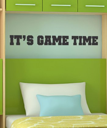 Black 'It's Game Time' Wall Quotes Decal