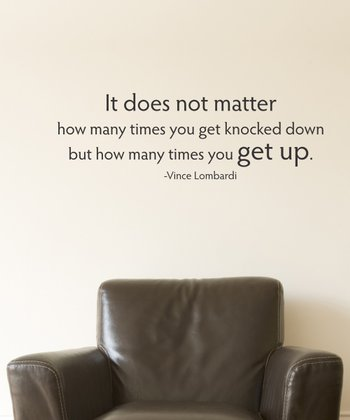 Black 'It Does Not Matter' Wall Quotes Decal