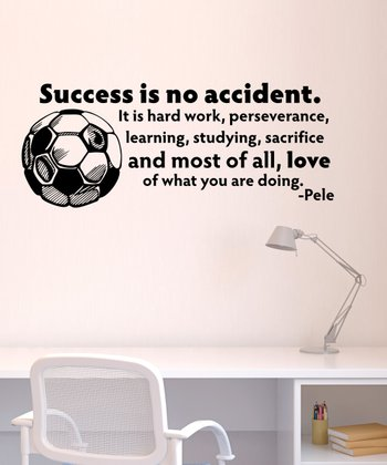 Black 'Success Is No Accident' Wall Quotes Decal