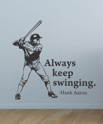 Black 'Always Keep Swinging' Wall Quotes Decal