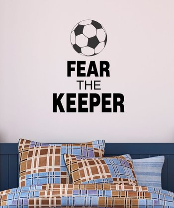 Black 'Fear The Keeper' Wall Quotes Decal