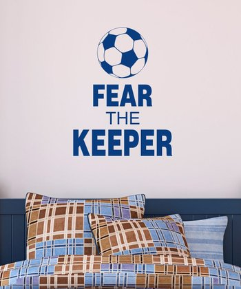 Navy 'Fear The Keeper' Wall Quotes Decal