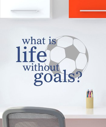 Navy & Pewter 'Life Without Goals' Wall Quotes Decal