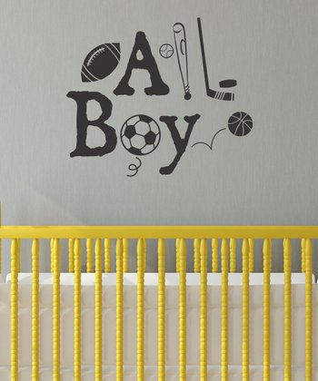 Black 'All Boy' Wall Quotes Decal
