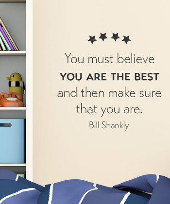 Black 'You Are The Best' Wall Quotes Decal