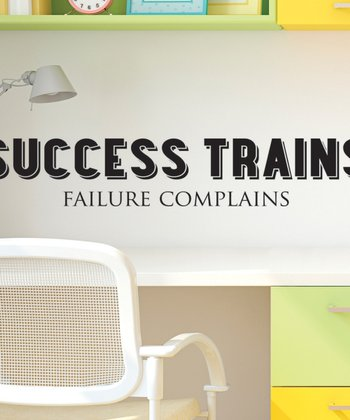 Black 'Success Trains' Wall Quotes Decal