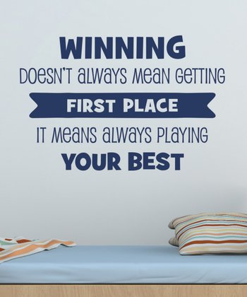 Navy 'Winning Means Playing Your Best' Wall Decal Set