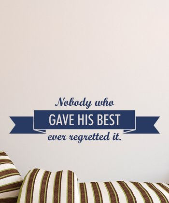 Navy 'Gave His Best' Wall Quotes Decal